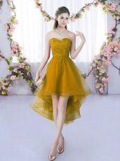 Suitable Sleeveless Lace Lace Up Vestidos de Damas