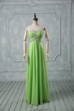 Pretty Sleeveless Chiffon Zipper Prom Evening Gown for Prom and Party and Military Ball