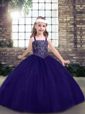 Tulle Sleeveless Floor Length Party Dress Wholesale and Beading
