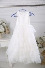 Sleeveless Ruffled Layers Zipper Flower Girl Dresses