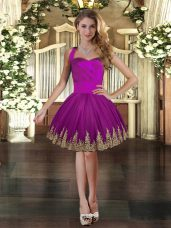 Dazzling Sleeveless Embroidery Lace Up Club Wear