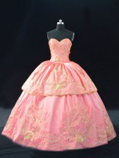 Pink Sweet 16 Dresses Sweetheart Sleeveless Lace Up