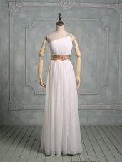 Sleeveless Beading Side Zipper Wedding Gowns