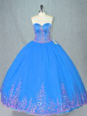 Clearance Sleeveless Beading and Embroidery Lace Up 15 Quinceanera Dress