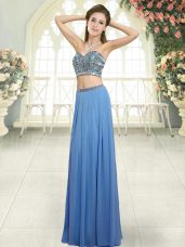 Sumptuous Sleeveless Beading Backless Prom Evening Gown