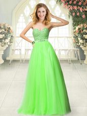 Hot Sale Tulle Sweetheart Sleeveless Zipper Beading and Lace in