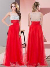Super Sleeveless Side Zipper Floor Length Sequins Prom Evening Gown