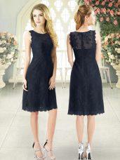 Scoop Sleeveless Prom Dress Lace Zipper