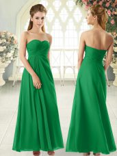 Popular Green Sleeveless Chiffon Zipper Prom Dresses for Prom and Party