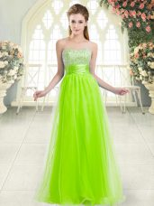 Hot Sale Floor Length Prom Dress Sweetheart Sleeveless Lace Up