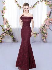 Sleeveless Floor Length Vestidos de Damas and Lace