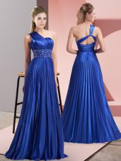Hot Selling Sleeveless Backless Floor Length Beading and Ruching