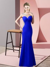 Sleeveless Zipper Floor Length Beading and Pick Ups Prom Party Dress