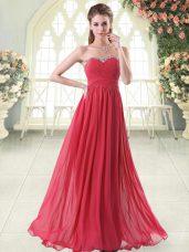 Captivating Sleeveless Beading Zipper Formal Dresses