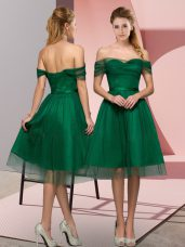 Green Sleeveless Tulle Lace Up Prom Party Dress for Prom and Party