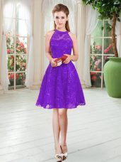 Sleeveless Lace Zipper Prom Dress