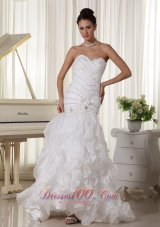 Beading Bodice Wedding Dress Layered Mermaid Sweetheart