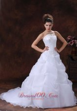 Wedding Dress Court Train Pick-ups Strapless