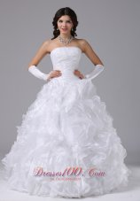Ball Gown Wedding Dress Ruffles Outdoor Wedding