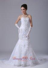 Lace With Beading Mermaid Wedding Dress Beading Court
