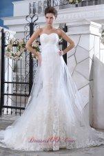 Mermaid Sweetheart Lace Wedding Dress Court Train
