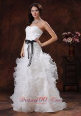Lovely Sweetheart Wedding Dress Ruffled Layers