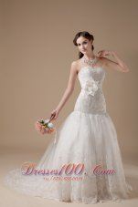 Attractive Beaded Wedding Dress Lace Sweetheart
