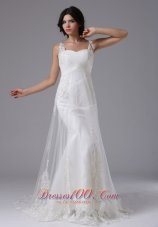 Timeless Straps Beaded Wedding Dress On Sale