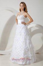 Special Fabric Beading Column Sweetheart Wedding Dress