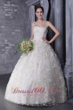 Lovely V-neck Tulle and Taffeta Beading True Wedding Dress