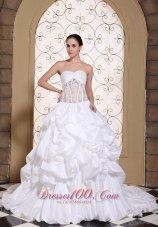 Wedding Dress Taffeta With Pick-ups Gowns