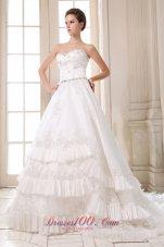 Sweetheart Bridal Dress Taffeta Beading and Appliques