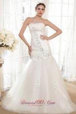Strapless Taffeta and Organza Bridal Dress