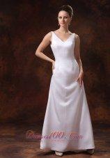 V-neck Satin Mother Of The Bride Dress Ankle-length 2013