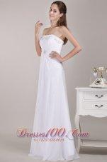 Newest Strapless Chiffon Empire Bridal Dress Beading