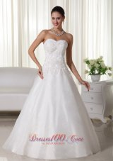 Wedding Gown Sweetheart Floor-length Organza Organza A-line