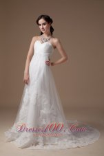 Sweet Tulle Lace A-line Wedding Dress for Petite Brides