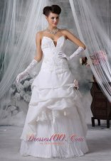Tiered Wedding Gowns Handed Flower Special Fabric