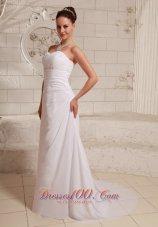 Chiffon Beach Wedding Dress Gilding Sweetheart Sweep Train