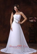 the Most Popular White Beach Bridal Gowns Gilding A-line