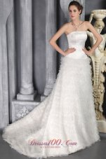 Romantic Tulle Ruffles Winter Church Wedding Dress Strapless