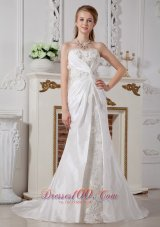 Unique Twist Sweetheart Wedding Bridal Dress Court Buttons