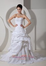 Prettiest Wedding Gowns Sheath Sweetheart Appliques Layer