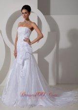 Lovely Mermaid Bowknot Wedding Dress Appliques Designer