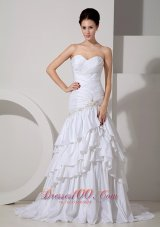 Beautiful Bridal Dress Mermaid Sweetheart Appliques Cheap