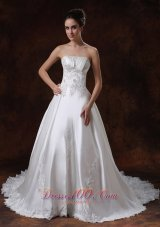Gorgeous Royal Ruffled Wedding Bridal Ball Gowns Chapel