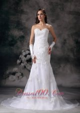 Brand New Mermaid Embroidery Wedding Dress Organza Beading