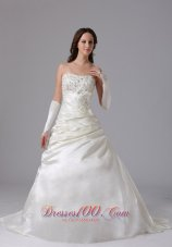 Appliques Romantic Wedding Ball Gown Snowflake Beads