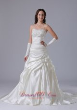 Clasp Beaded Luxurious Wedding Bridal Dress Appliques 2014