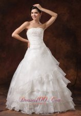 Dreamy Ruffles Layered Lace Wedding Gowns For Spring